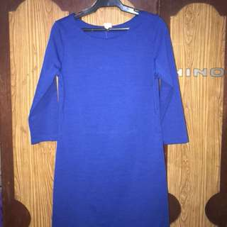 Shapes dress in royal blue