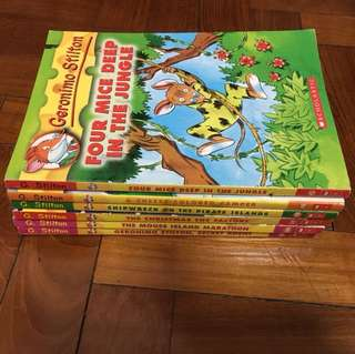 Geronimo Stilton series of books (primary school)