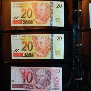 Brazil巴西紙幣 reais舊鈔