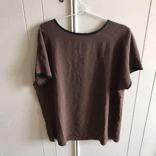 [NEW] Brown Satin Shirt