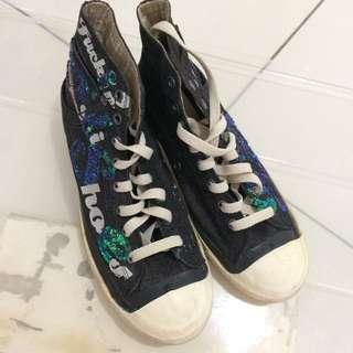DIESEL Dark Blue Canvas Shoes