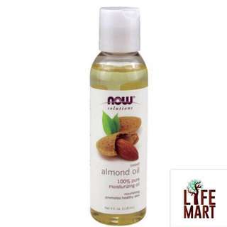 ⚡️SALE⚡️*FREE MAIL* Now Foods Solutions, 100% Pure Sweet Almond Oil 118ml