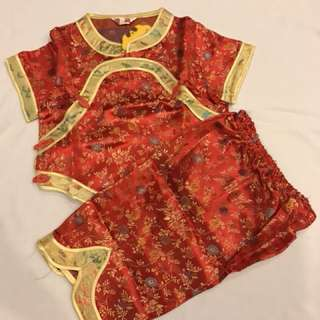 Red Cheongsam Set