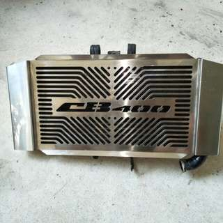 Honda super 4 Radiator with stainless steel grill