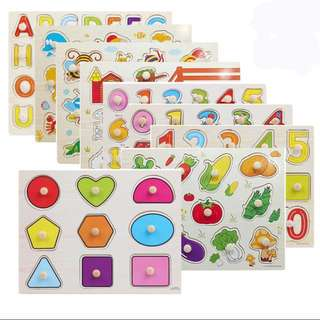 Wooden puzzles for babies/ children (pre-order)