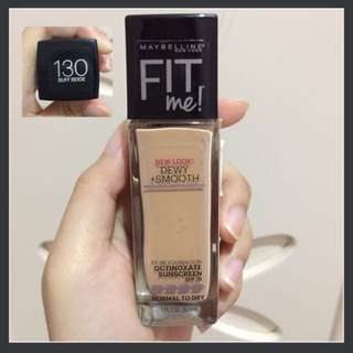Maybelline Fit Me Foundation (Dewy + Smooth)