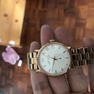 9成新,Marc Jacob watch 玫瑰金鋼帶