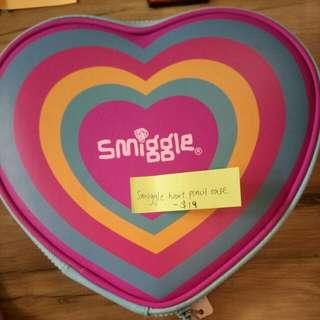 Smiggle heart pencil case