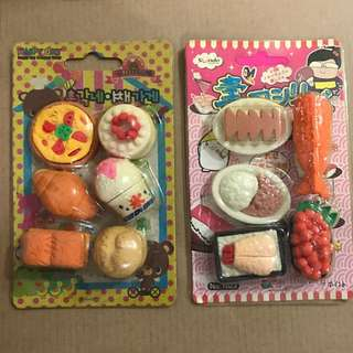 [CNY SPECIAL] Japanese food erasers
