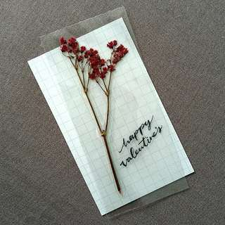 heat pressed floral bookmarks