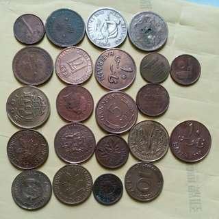 多國舊硬幣 品相理想