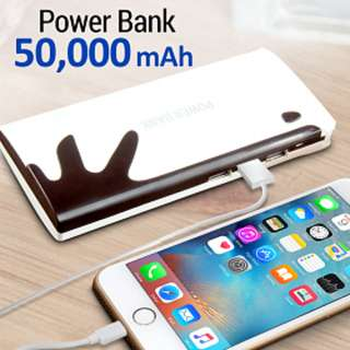 [ON-HAND] Smart Multi-Color 50,000 mAh Power Bank for Smartphones & Tablets - PINK