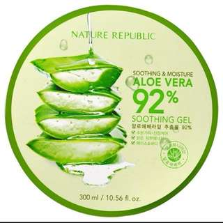 100% AUTHENTIC Nature Republic Aloe Vera Gel