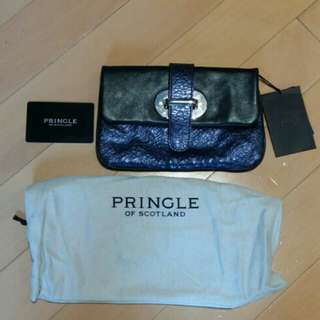 Pringle of Scotland leather clutch