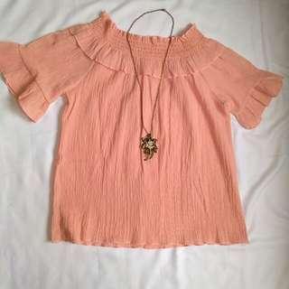 Light Pink Off-Shoulder