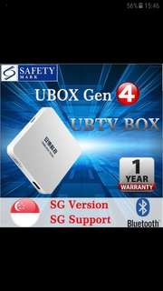 🚚 Brand new latest ubox gen 4 ubtv uvod many tv channels many movies one time payment lifetime usage no monthly subscription