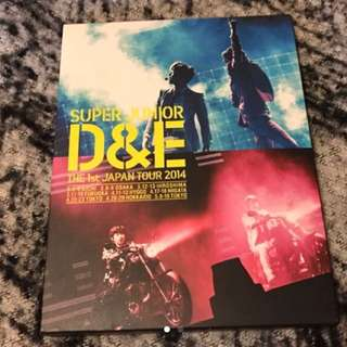 Super Junior D&E The First Japan Tour 2014 DVD (日版)Super Junior 東海 Donghae 銀赫 Eunhyuk (包郵)