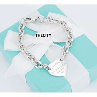 AUTHENTIC TIFFANY & CO. HEART BRACELET IN SILVER - EXCELLENT CONDITION
