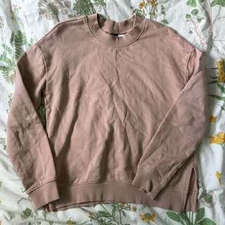 🍑 h&m baby pink pullover