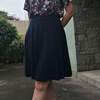 Skater Skirt in Midnight Blue