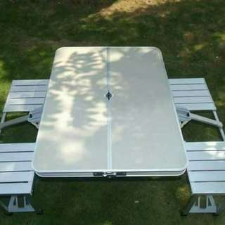 Picnic table and chair