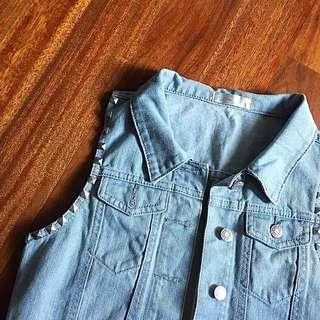 Denim Jacket (Sleeveless)