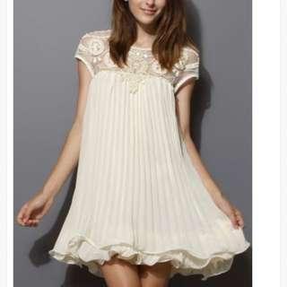 HERVELVETVASE HVV beaded embroidery pleated dress CNY