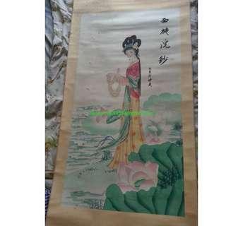 中國四大美人 四款名畫合售 珍稀品