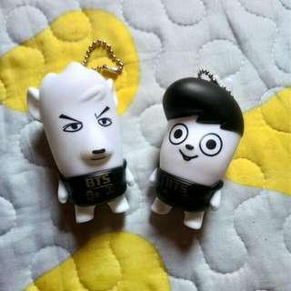 BTS figure doll keychain