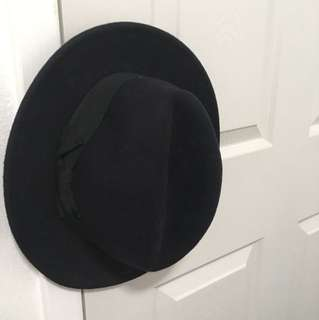 Wool Black Felt Hat Fedora Jack London
