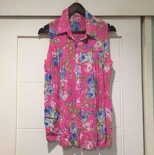 Pink Flower top