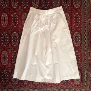 Zara White Midi Skirt