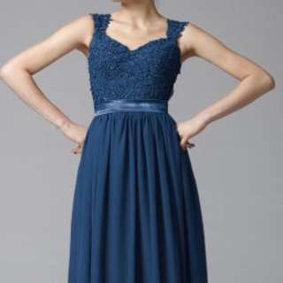 Navy blue prom / evening dress
