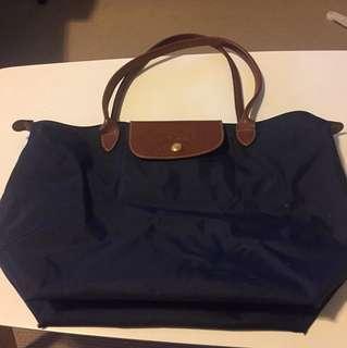 Navy Longchamp Handbag
