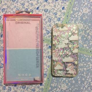 Iphone 6 casing - unicorn with glitters