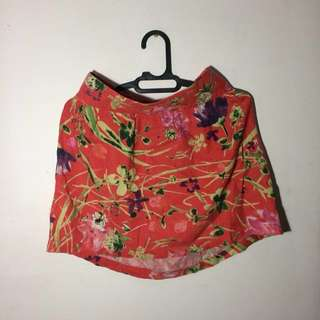 Pink Floral Skirt Canvas