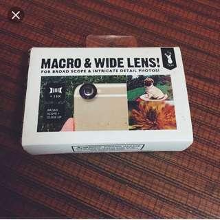 Typo macro & wide lens