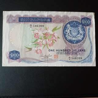 $100 orchid note