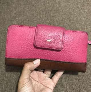 Fossil Pink Wallet
