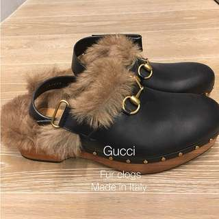 Gucci Fur clogs