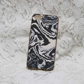Pink & Black Marble iPhone 5/5s Case
