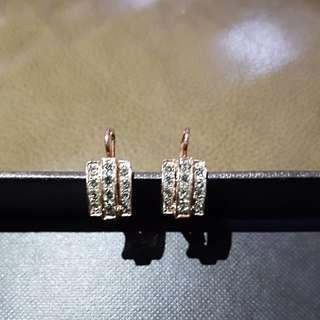 Rose Gold plated Cyrstal Earrings