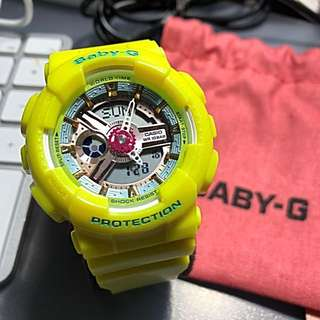 Casio Baby-G Yellow 5338P*JA (Japan Model) a.k.a BA-110CA-9AJF