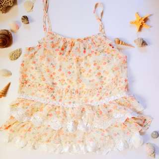 Preowned Floral top