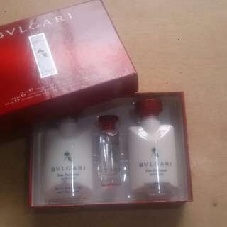 70% off BVLGARI gift set (perfume, lotion, after shave emulsion)