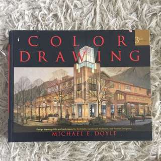 Hardcover Color Drawing Book For Professionals