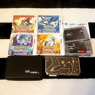 Modded Nintendo New 3DS XL with 5 Pokemon Games