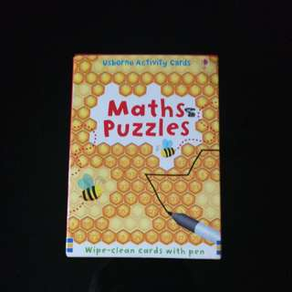 Usborne Activity Cards Math Puzzles