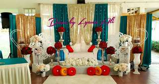 Wedding deco / Wedding Decoration / Mini Pelamin  / Engagement  / Birthday  / Backdrop  / Dais