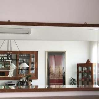 Vintage Burmese Solid Teak Mirror